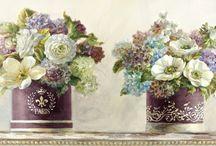 Çiçek/Kelebek/Ağaç Temalı Modern-Vintage Tablolar