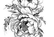 Цветы татуировки