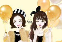 Hedge / Koreean girls Enakai