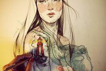 Ilustraciones, pinturas...