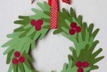 kerstkrans handen