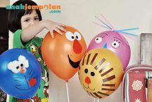 decorando globos