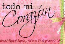 TAGS EN MIXED MEDIA Con todo mi corazón / by El Baúl de Andrea