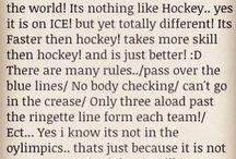 Ringette and hockey