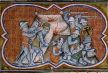 14th century / medieval tents / Medieval tents found in manuscripts dating 1370 - 1400 from the Netherlands, Belgium, UK, France and Germany.