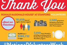 Volunteers / Ronald McDonald House at Stanford relies on the generosity of hundreds of volunteers who help make the House a home for families with critically ill children. Here we honor their gifts of time and talent. Thank you!