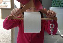 Porta carta igienica / Porta carta igienica ricavato da attaccapanni