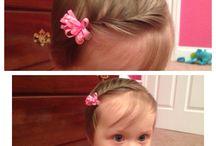 Baby girls hair