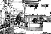 Architecture. Lineart. Smallcity. Basic.