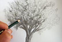 dessiner des paysages / passez voir comment dessiner un arbre sur http://dessin-creation.com