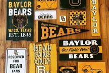 Green & Gold Decor / Baylor inspired decorations for those who bleed green & gold.