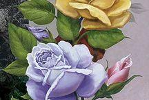 Flores naturales pintadas