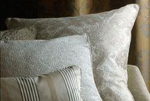 curtains, cushions