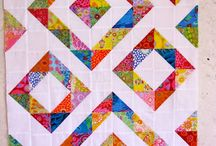 Half Square Triangle Large Quilt Layout
