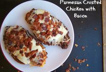 Crusted Parmesan chicken with bacon