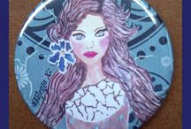 Espejos / Espejos con ilustraciones propias pintadas en todo tipo de productos.