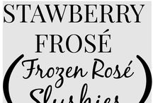Frozen Rosé Recipes / It's summer water in slush form.