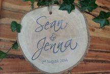 Wedding Signs and signposts / Bespoke handmade signs and signposts for weddings and events.