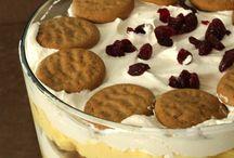 puddings, trifles, desserts