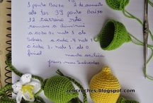 Crochê frutas/legumes