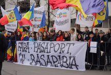 Fără paşapoarte în Republica Moldova / Protest organizat de Platforma Unionistă Acțiunea 2012 pentru eliminarea pașapoartelor la graniţa România-R. Moldova.