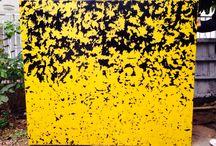 Kara Sarı Bir Cinayet / New Work 137x157cm. Acrylic on Canvas