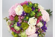 Brudbukett och blommor