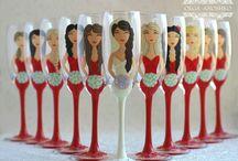 Flutes, Wedding, Bridesmaids