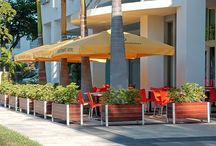 Gardening, Garden Planters, and Planter Liners / Container gardening cools the earth, cleans the air, and saves power used to cooling buildings.  Landscape Architect quality large lightweight garden planters for balconies, green roofs, terraces, hotels, restaurants, office building, condos, and public spaces / by Tom Boyce
