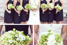 Green and black wedding