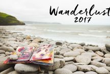 Wanderlust 2017 online class / Wanderlust 2017 is an online class, a year long journey through mixed-media and art journaling, that I created together with my partner Jamie and 24 other fabulous teachers. Visit this page for more details: www.everything-art.com