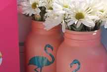 Flamingo diy decor