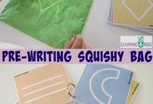 sensory bag writing