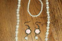 handmade earrings, necklace and bracelet / handmade earrings,necklace and bracelet