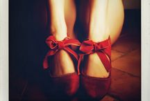red shoes vintage