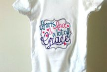 Embroidered Bodysuits and T-Shirts / We love embroidered infant and child wear!
