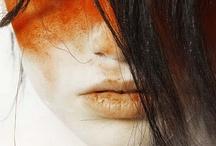 Orange&yellow make up ideas  / Fashion#makeup