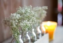 milk bottle centerpieces
