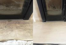 Stone Fireplace Cleaning