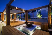 Outdoor entertaining ideas / Nice spaces for entertainment and relaxing