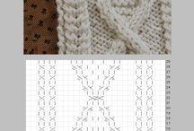 アラン模様編み図