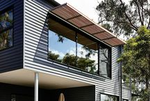 Louvers, Awnings & Timber Battens / Louvers & battens can be used to block unwanted direct sunlight improving a homes energy efficiency.  Protecting west facing windows is particularly important in warm parts of Australian.  North facing windows can often be adequately protected with a roof eave but if the eave is too high up or the design style doesn't have eaves North facing windows can be protected by louvers battens or an awning