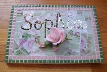 mosaic name board