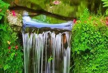 potůčky, řeky, vodopády