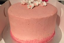 Fresh raspberry buttercream birthday Cake
