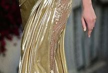 Gold evening gowns
