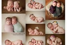 Newborn poses twins
