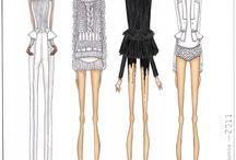 Croquis de moda estilizado