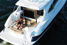 Cruiser boats and yacht