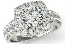 Moissanite Engagement Rings / www.ravendiamonds.com